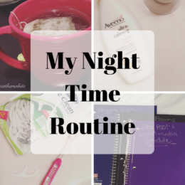 night time routine